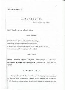 zarządzenie łukaszewska